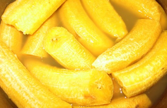 Boiled plantain