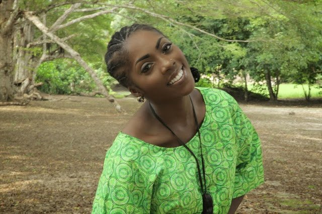 Tiwa savage with natural hairstyle