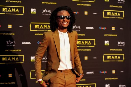 Dadaboi Ehiz at the red carpet during the MAMA 2016 in Johannesburg, South Africa on October 22nd, 2016