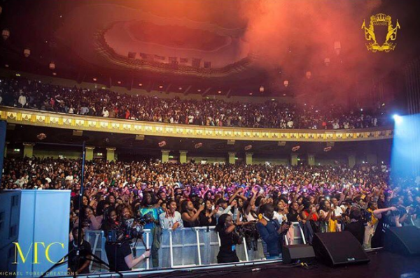 The sold-out crowd at the Eventim Apollo