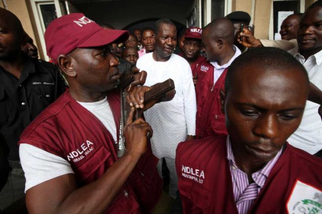 Baba Suwe and NDLEA officials