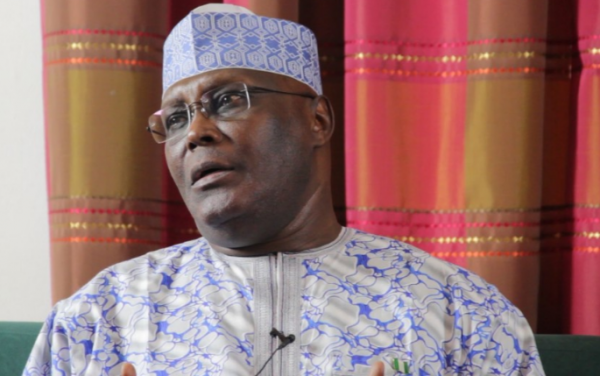 Atiku does the 'dab dance' in school