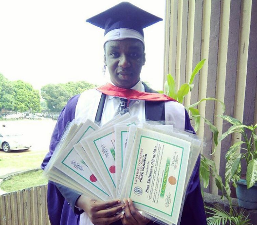 Pius Ojemolon won 19 awards to graduate from UNIBEN | TheCable Lifestyle