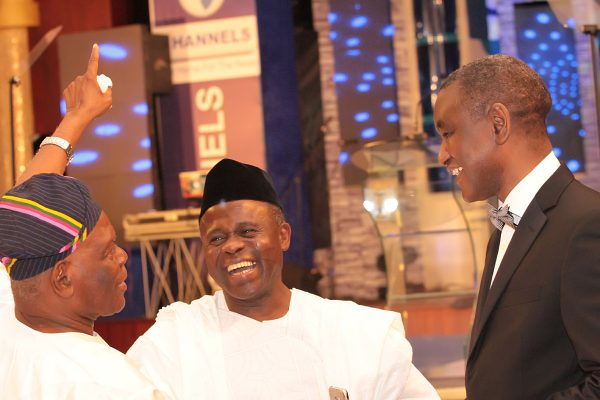 From left: Former Governor of Osun State, Chief Bisi Akande; Chief Cardiology, Babcock University, Prof. Kamar Adeleke and President, Nigeria Bar Association (NBA, Mr. Abubakar Mahmoud.
