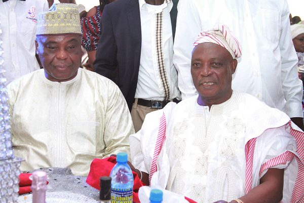Chairman, DAAR Communication Plc, Chief Raymond Dokpesi (left) and Former Governor of Oyo State, Sen. Rasheed Ladoja.