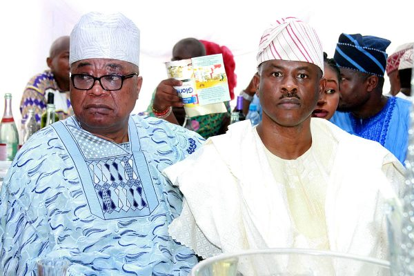 Former Oyo State Governor, Otunba Adebayo Alao-Akala (left) and Former Minister of State for Defence, Sen. Musiliu Obanikoro.