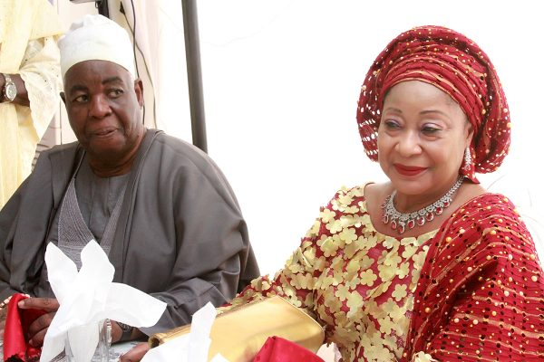 Chief Adebayo Akande and wife, Chief (Mrs.) Nike.