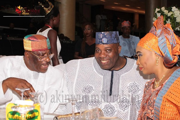 From left: Sen. Anthony Adefuye; Senior Special Assistant on Public Affairs to former President Jonathan, Dr. Doyin Okupe and wife, Oluwayemi; during the wedding ceremony of their children held at Methodist Church of the Trinity, Tinubu, Lagos, on Saturday...PHOTO BY AKINWUNMI IBRAHIM