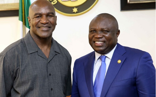 PHOTOS: Ambode hosts four-time heavyweight champion Holyfield