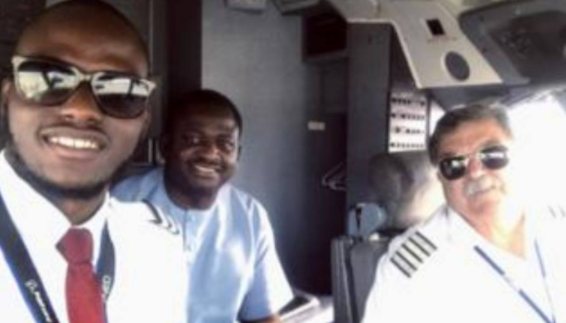 EXTRA: Femi Adesina flown for the first time by pilot…