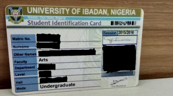 University of Ibadan ID Card | TheCable.ng