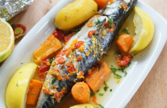 How to make mackerel fish in orange sauce, apple fritters…