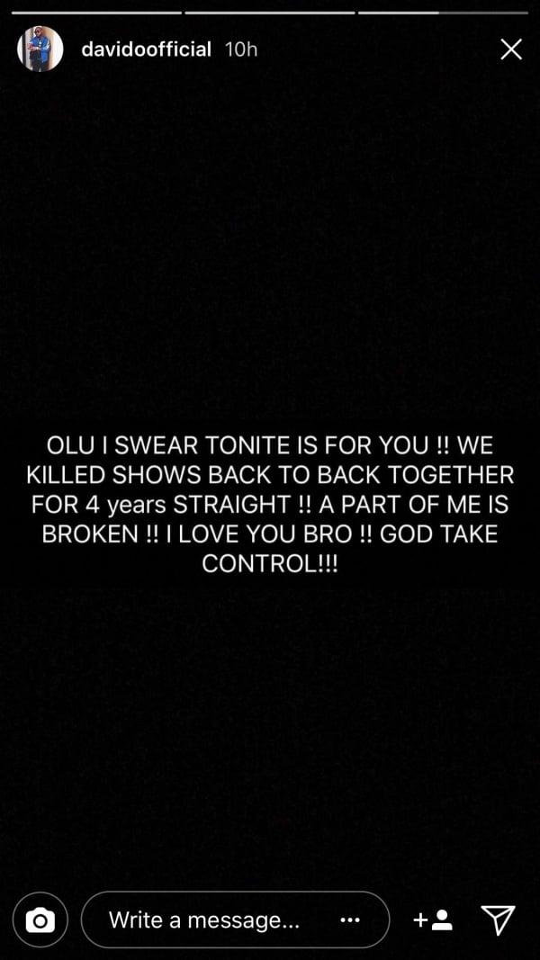 Davido bereaved again, friend DJ Olu found dead in his car