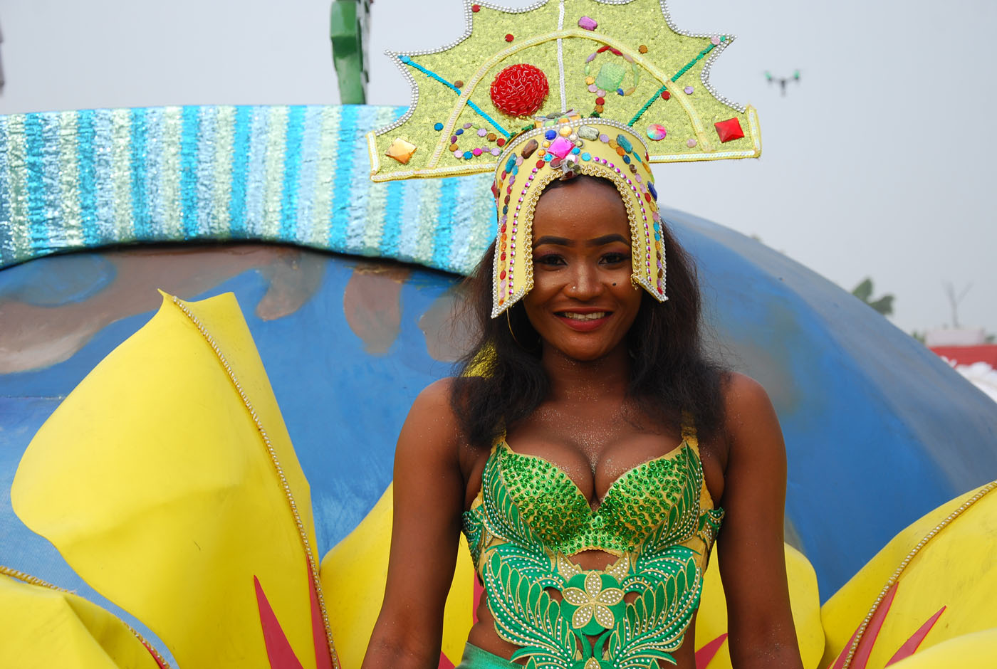 A Member of Freedom Band during the Main Event of the 2017 Carnival Calabar in Cross River State Yesterday. Photo: Nwankpa Chijioke