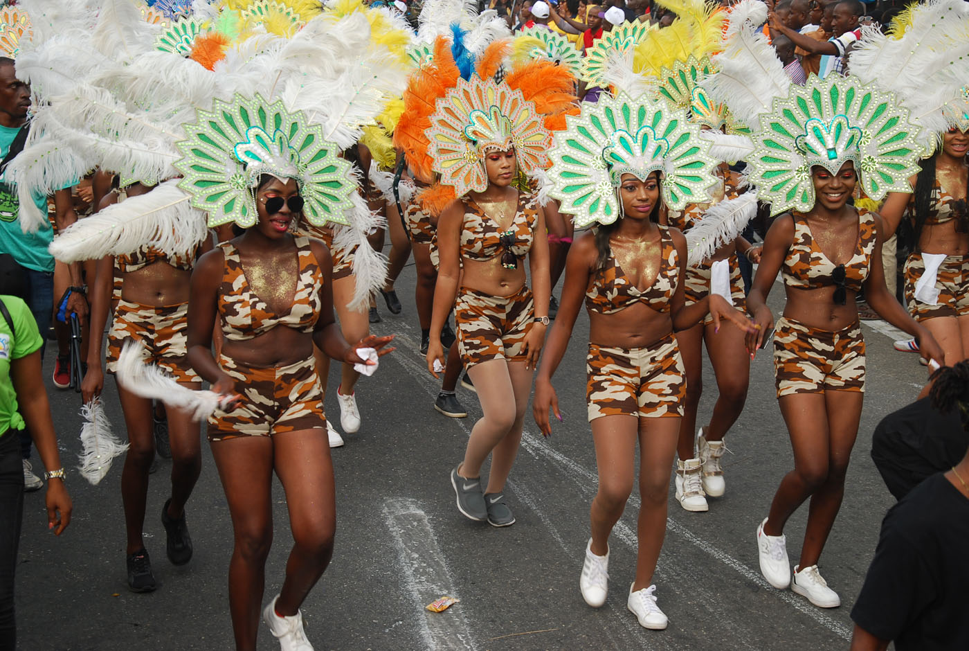 Members of Non-Competing Governor's Band during the Main Event of the 2017 Carnival Calabar in Cross River State Yesterday. Photo: Nwankpa Chijioke