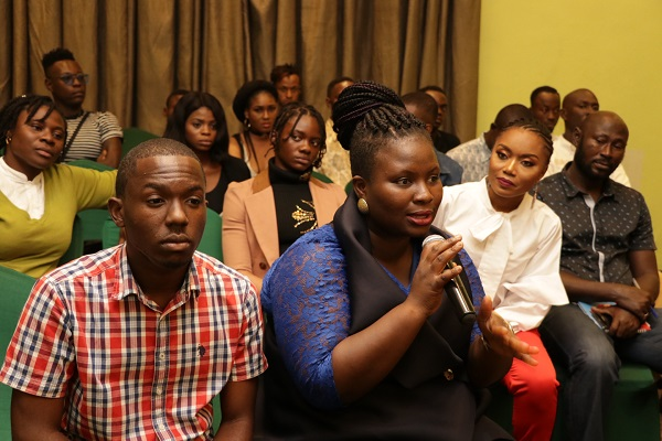 Itunu Omolara Oriye, Director, Human Rights and Advocacy at The Initiative for Equal Rights making contributions during the panel discussion