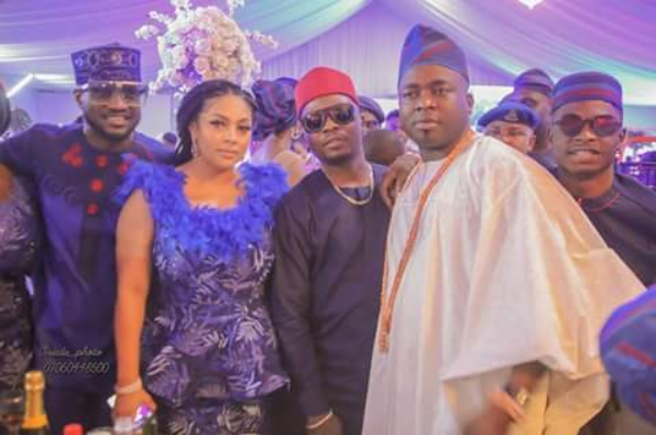 PHOTOS: Olamide, Peter Okoye spotted at traditional wedding of Elegushi | TheCable.ng