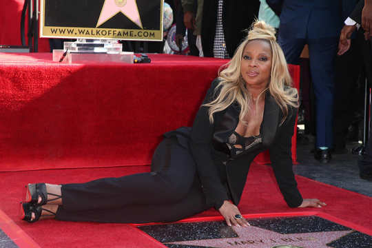 Mary J. Blige Poses With New Star On Hollywood Walk Of Fame