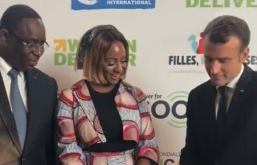 WATCH: France, Senegal presidents learn turntable tricks from DJ Cuppy
