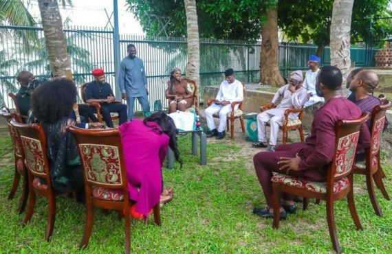 PHOTOS: Osinbajo spends evening with Banky W, Mo Abudu, Kate…