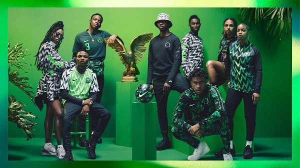 PHOTOS: Wizkid, Iwobi, Tiwa Savage model Nigeria's World Cup apparel