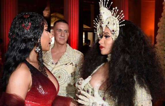 Cardi B escorted out of fashion party after lunging at Minaj
