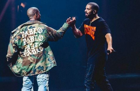 Kanye West Issues A Warning To Drake Over Drama With Kim Kardashian