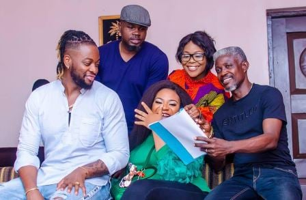 TCL behind-the-scenes: Teddy A, Regina Chukwu, Nkechi Sunday on set…