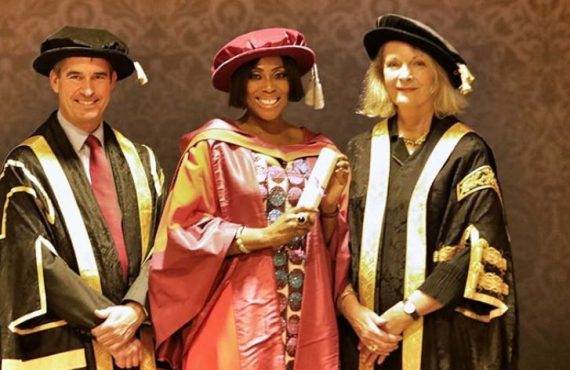 Mo Abudu receives honorary doctorate from University of Westminster