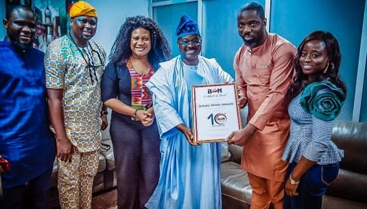 Ajimobi receives hosting rights for 10th BON awards